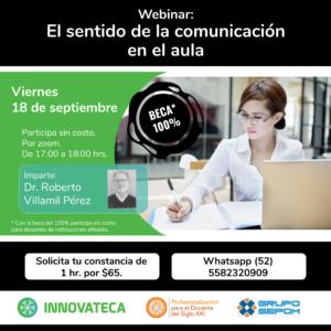 Webinar Innovateca 18sep20 Sentido Comunicación