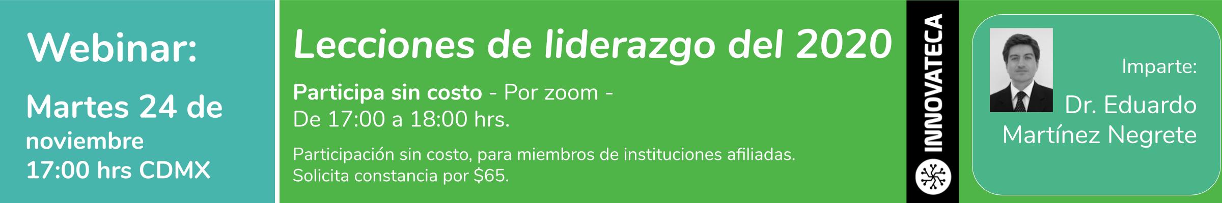 Webinar Innovateca Lecciones de Liderazgo 24nov