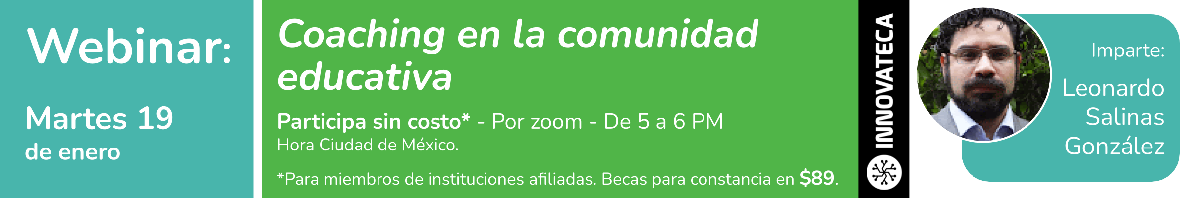 Webinar Innovateca 19ene21. Coaching Educativo