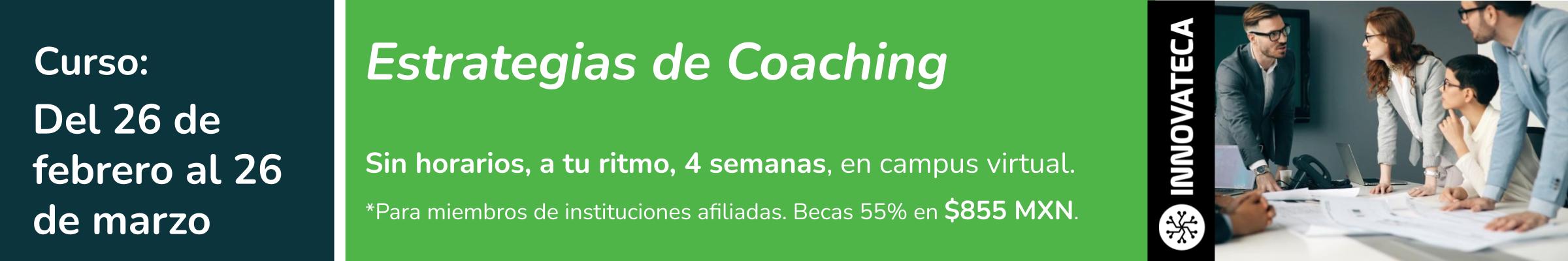 Curso Innovateca. Estrategias de Coaching. Feb21