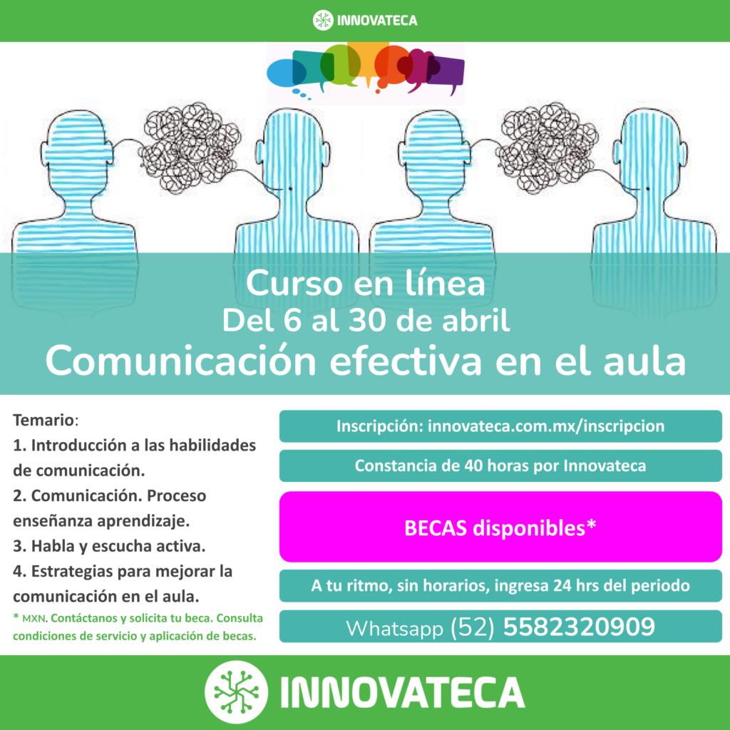 Curso Innovateca. Comunicación en el aula. Abril 2021.