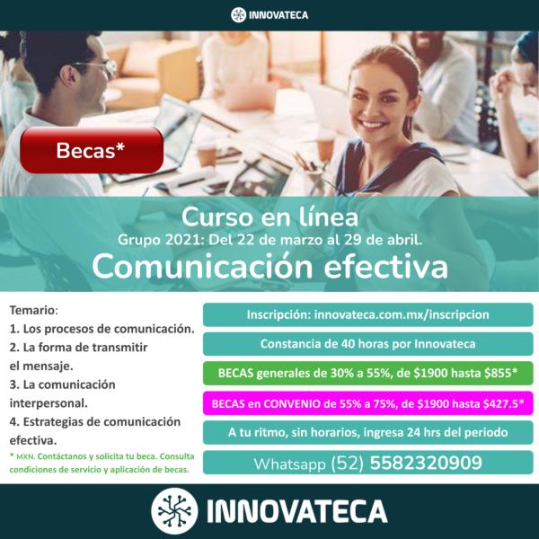 Curso Innovateca. Comunicación. Marzo21