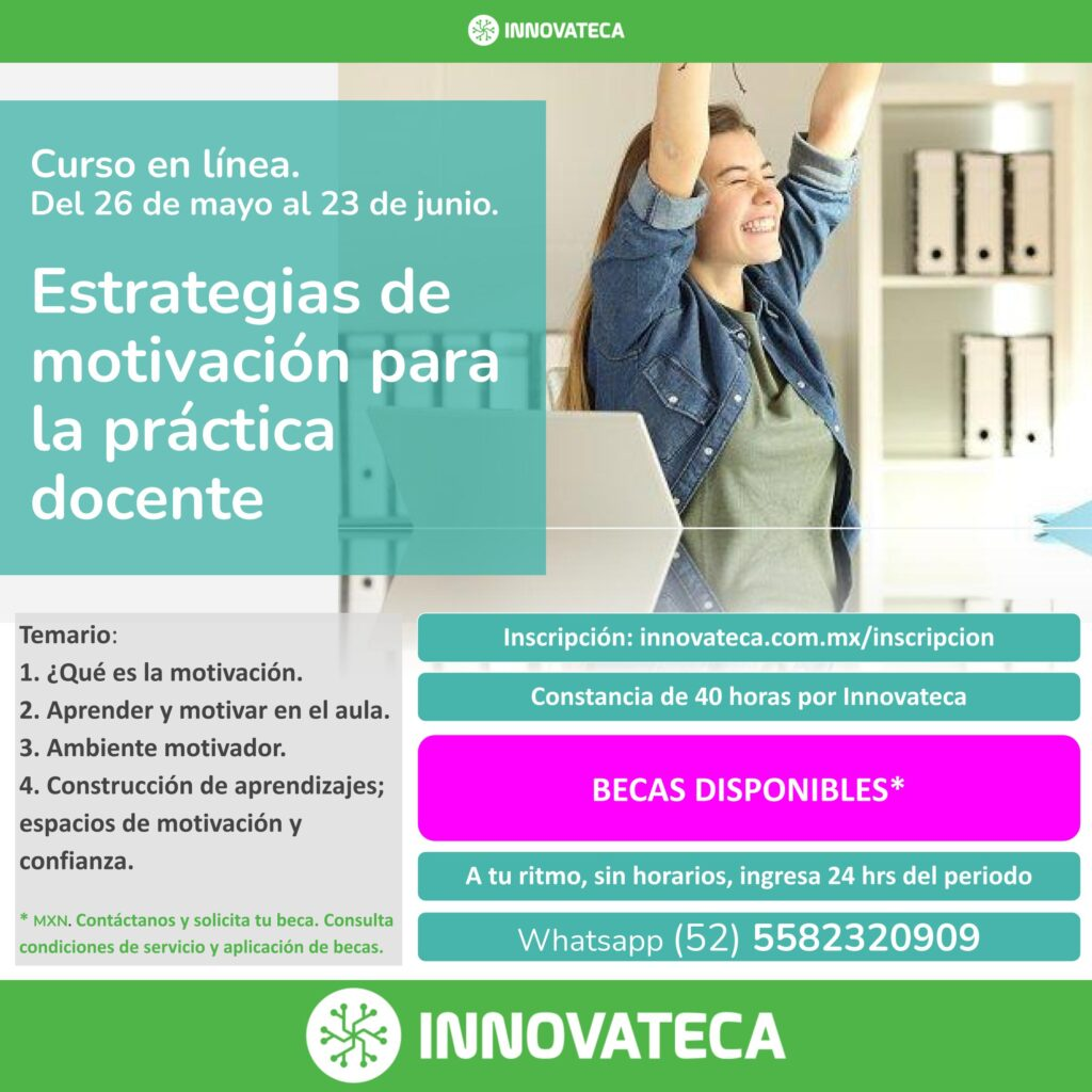Curso Innovateca. Motivación docente. Mayo 2021
