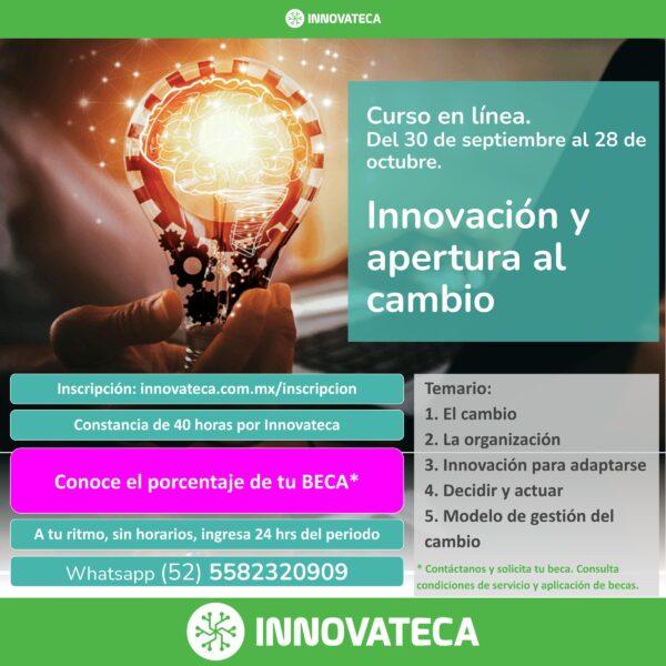CUrso Innovateca Innovaciín y apertura al cambio